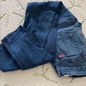 Hudson distresses skinny jeans